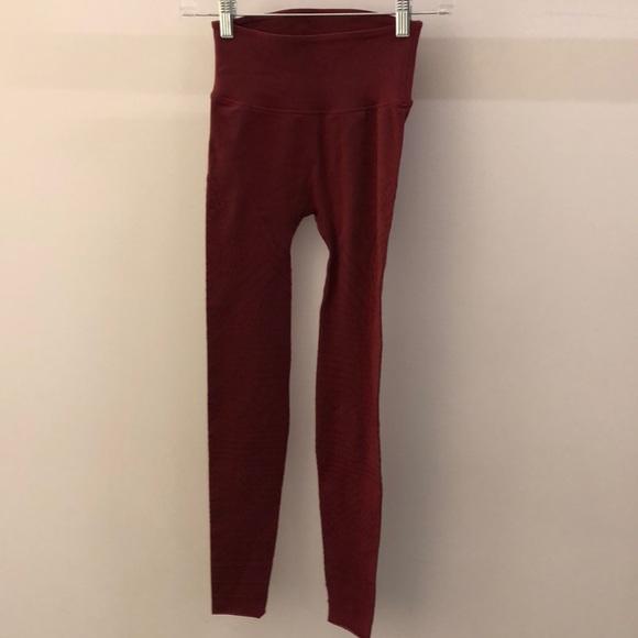 Free People Pants - FP Movement burgundy lazer cut legging, sz s